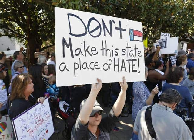 Manifestazione contro l'Hb2 in North Carolina
