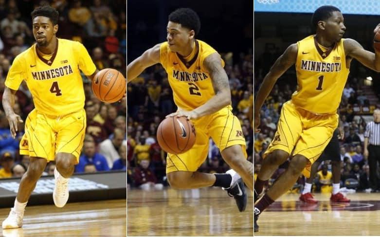 Kevin Dorsey, Nate Mason e Dupree McBrayer (Minnesota)