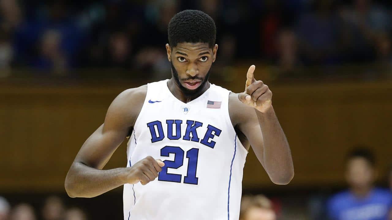 Ncaa basketball - Duke Blue Devils - Amile Jefferson
