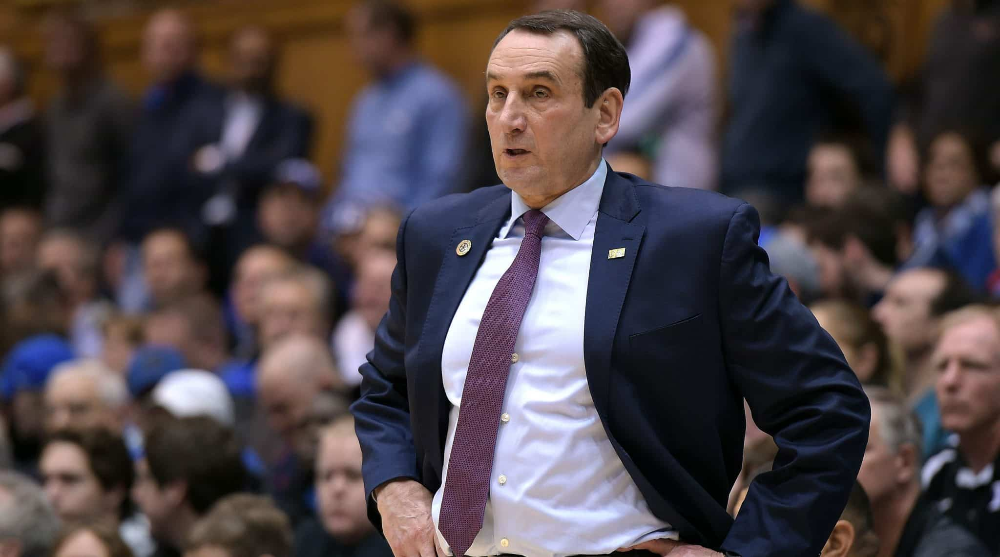 BasketballNcaa - Coach Mike Krzyzewski - Duke Blue Devils