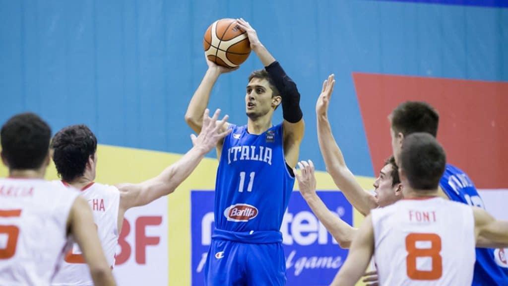 Davide Moretti in maglia azzurra