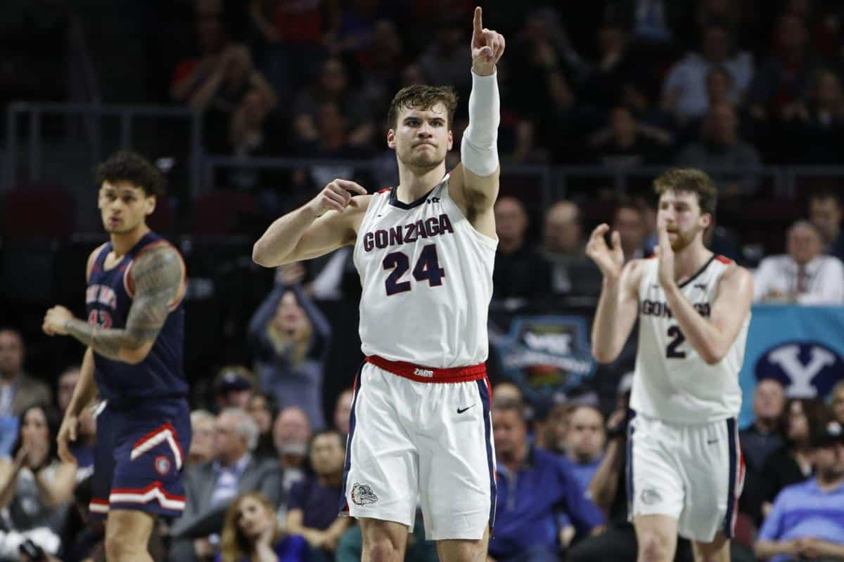 Gonzaga guida la Preseason Top 25 di BN