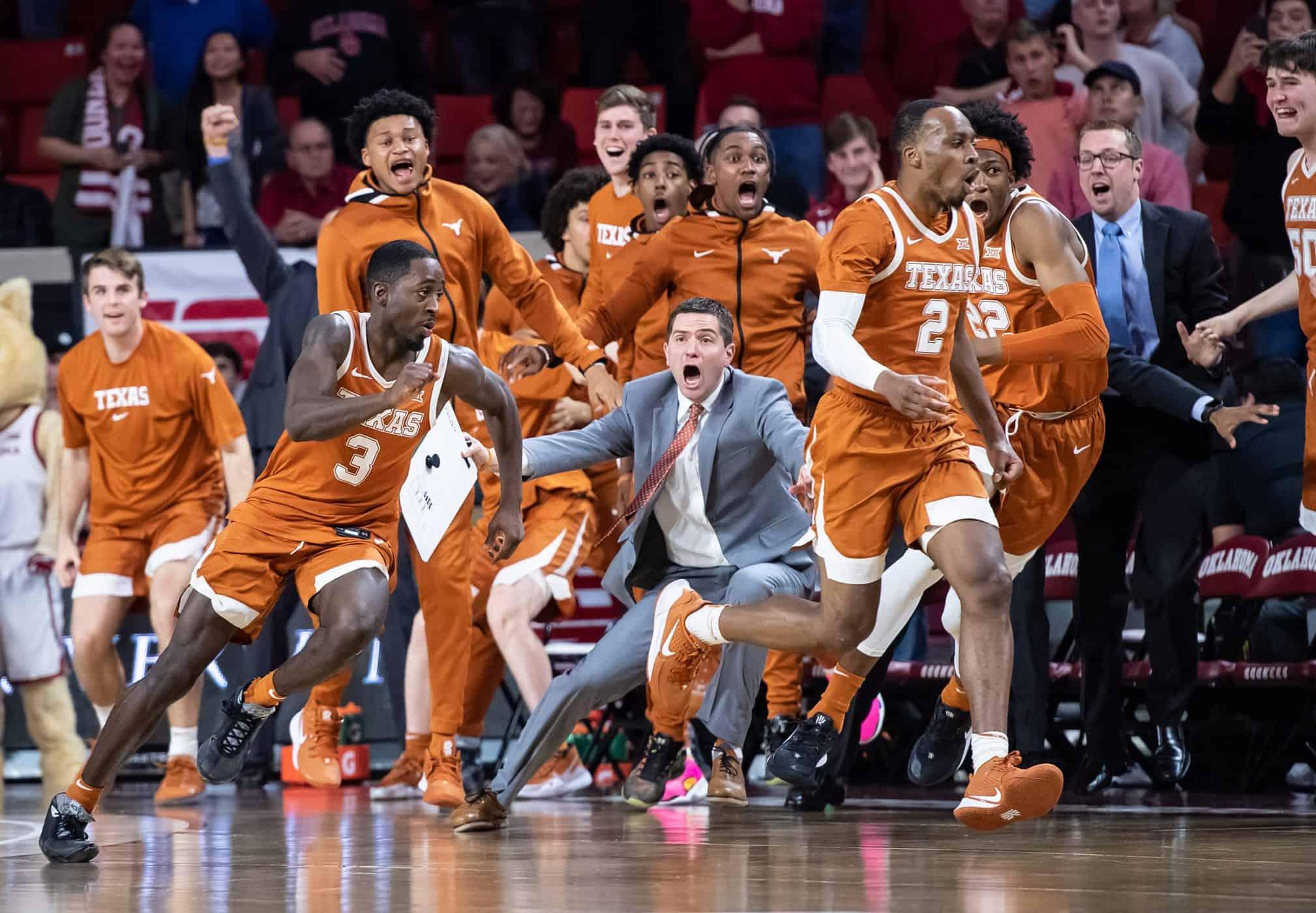 Texas buzzer Oklahoma March Madness