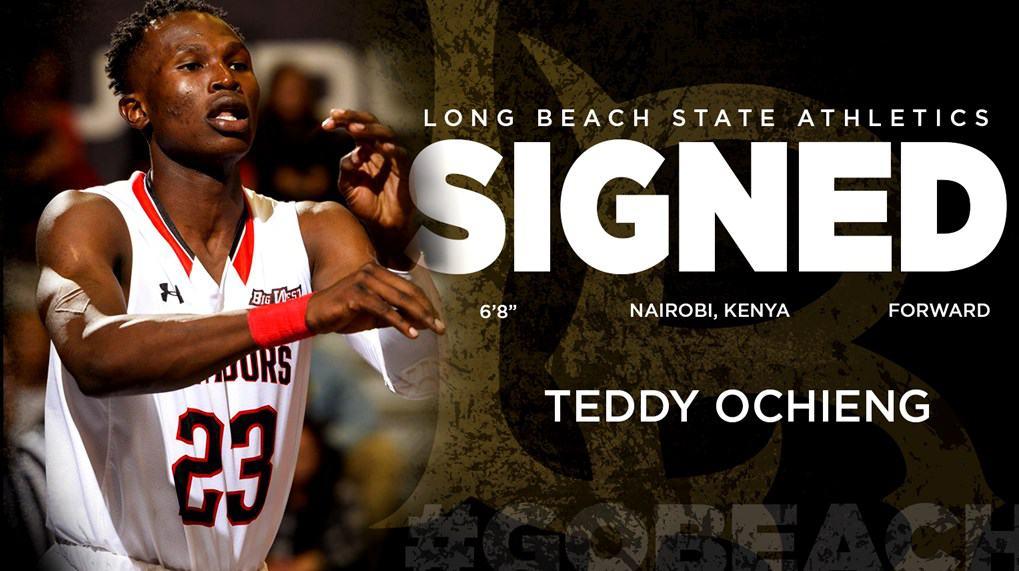 Teddy Ochieng firma per Long Beach State
