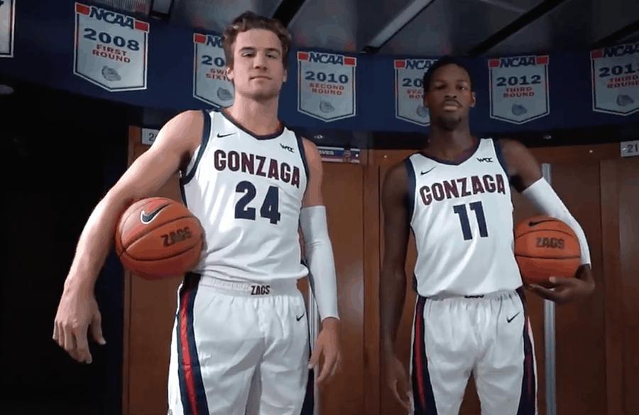Corey Kispert Joel Ayayi Gonzaga 2020-21