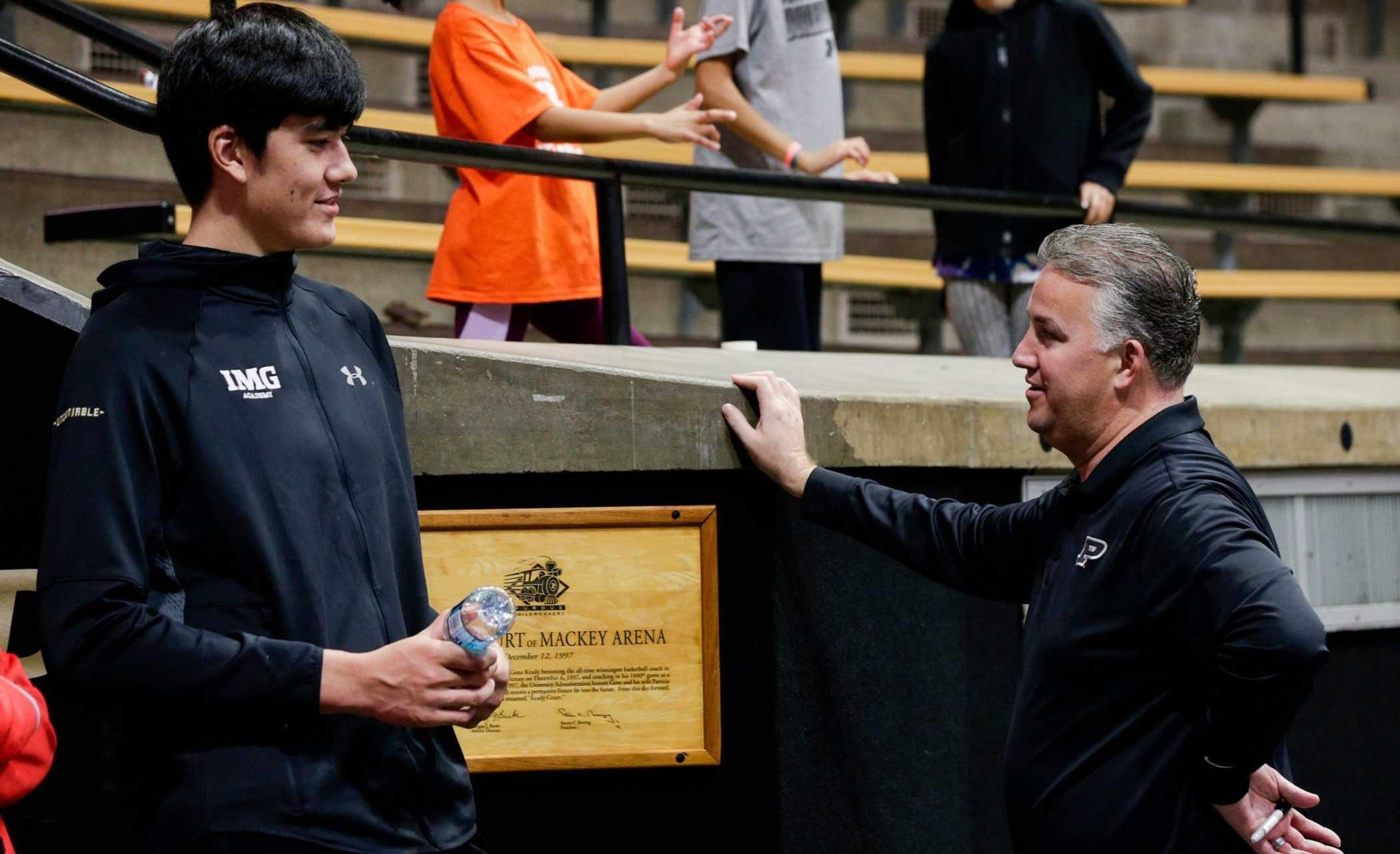 Zach Edey e coach Matt Painter - Purdue