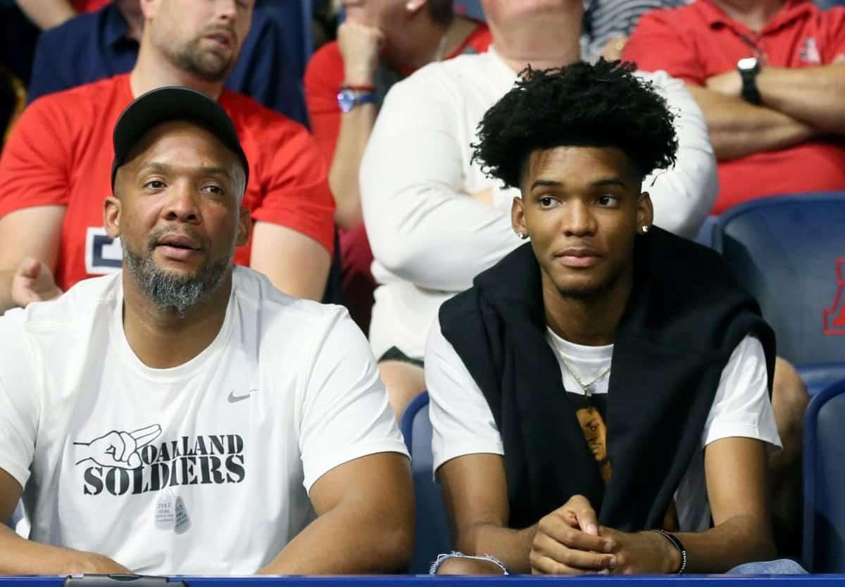 Ziaire Williams con il padre