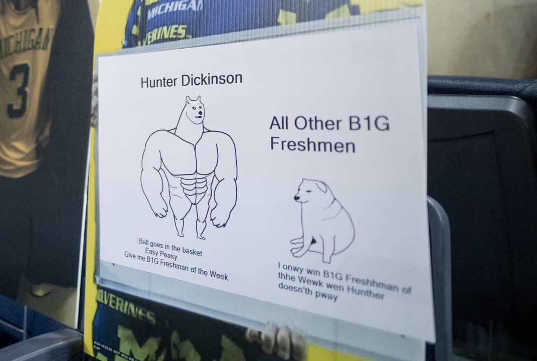 Hunter Dickinson fan Michigan MGoBlog