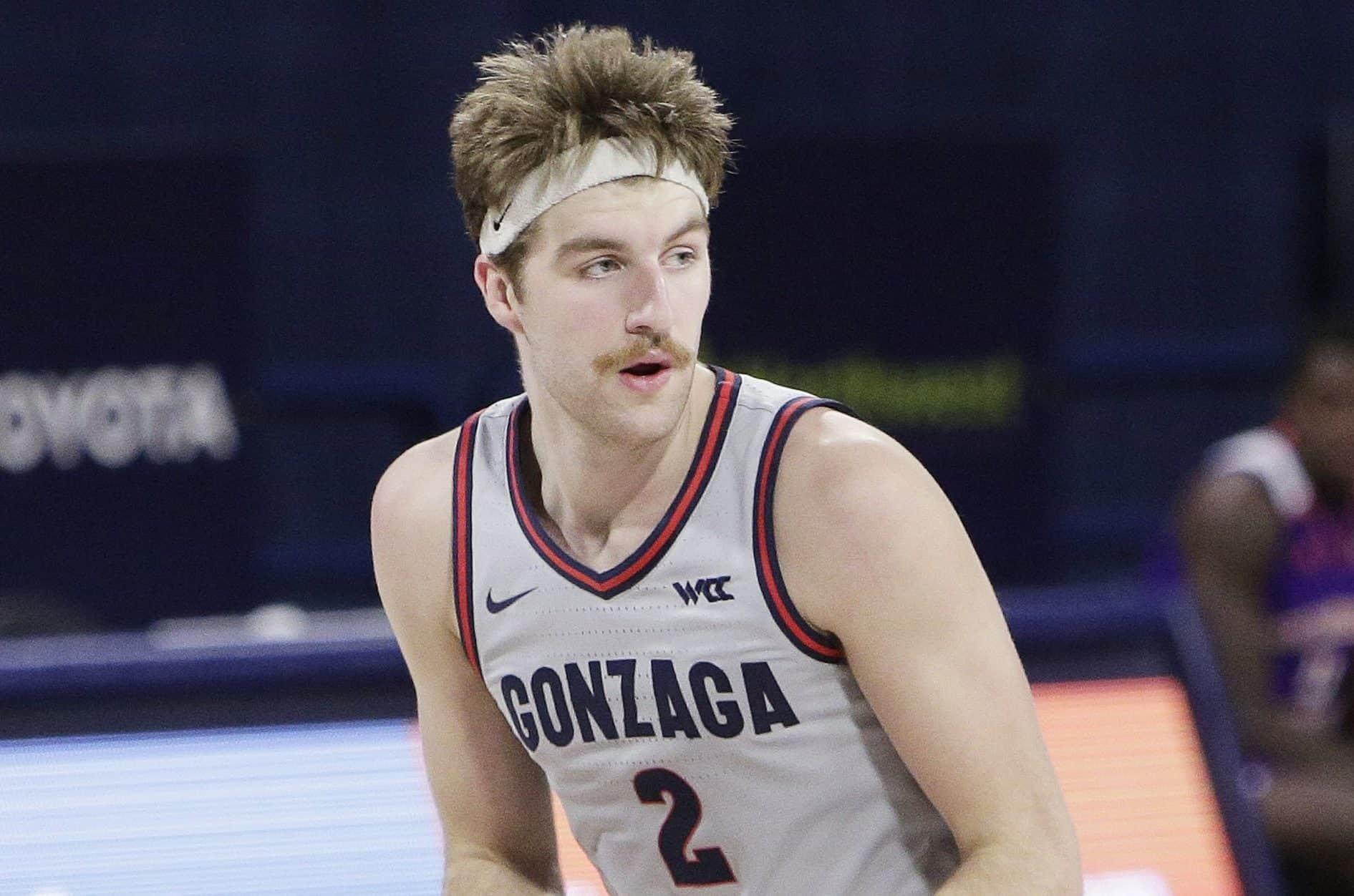 Drew Timme, un giocatore coi baffi