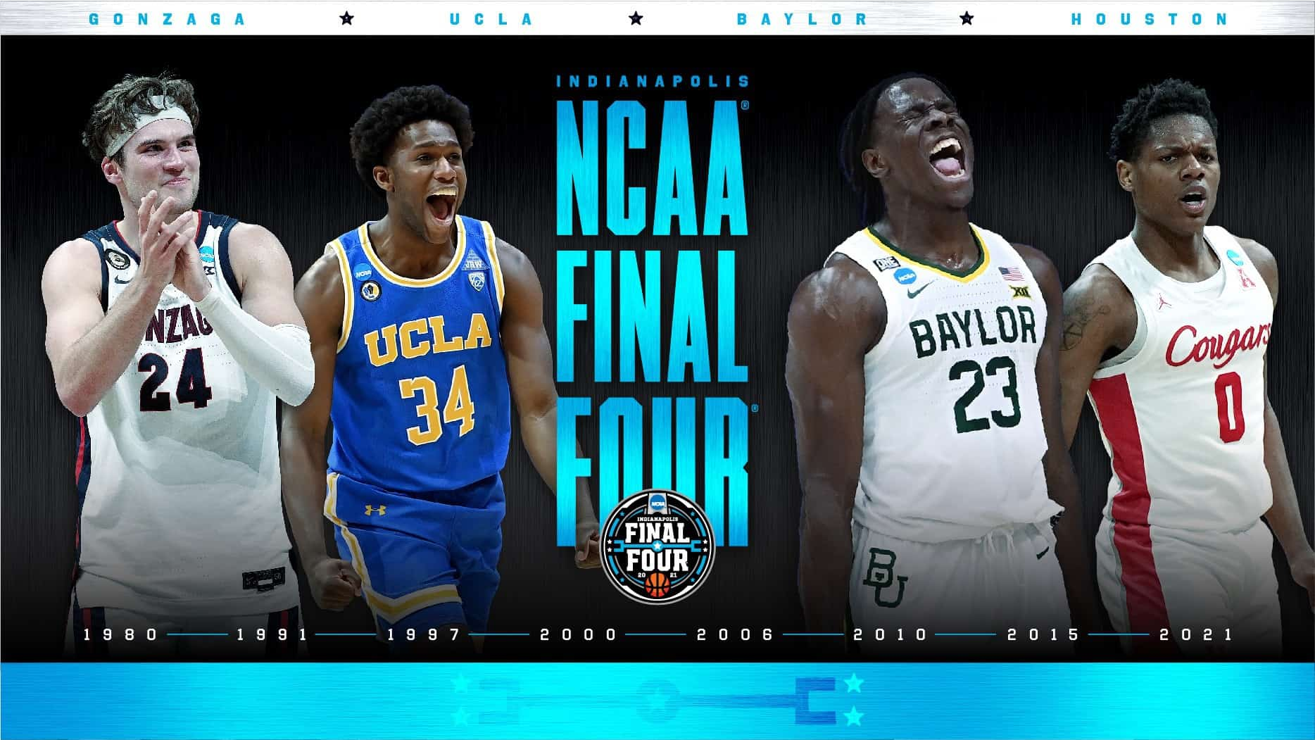 Zags, Baylor, Houston, UCLA: ecco le Final Four