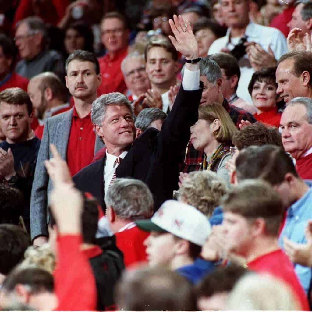 Bill Clinton appena eletto presidente